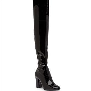 Kenneth Cole PatentLeather Overtheknee boots